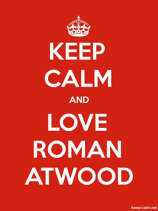 KEEP CALM AND LOVE ROMAN ATWOOD - white/red - Default (600x800)