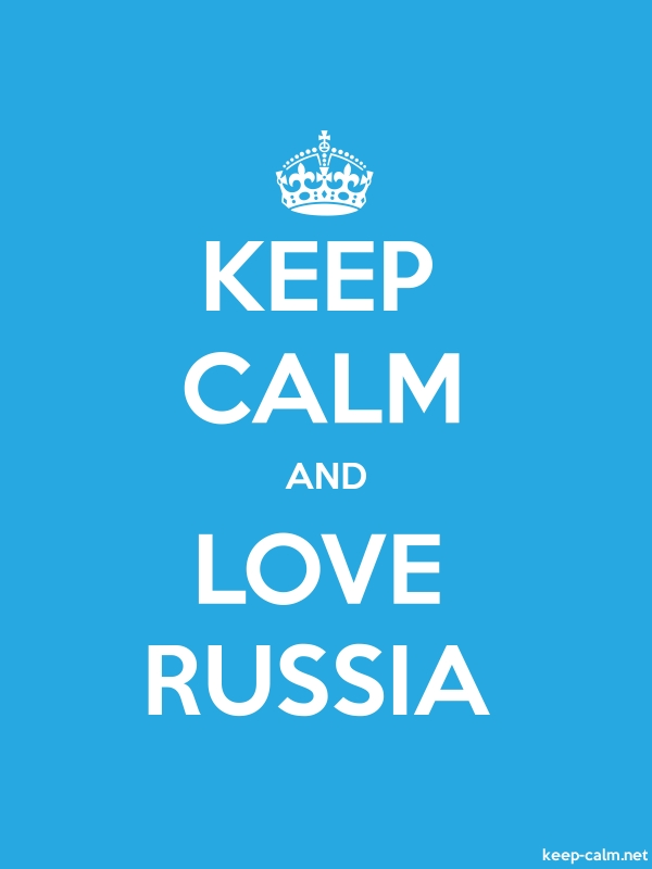 KEEP CALM AND LOVE RUSSIA - white/blue - Default (600x800)