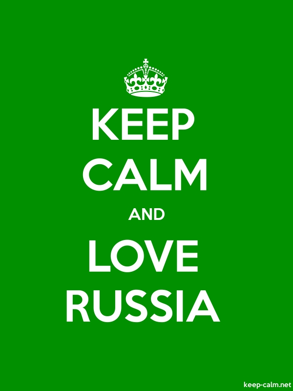 KEEP CALM AND LOVE RUSSIA - white/green - Default (600x800)