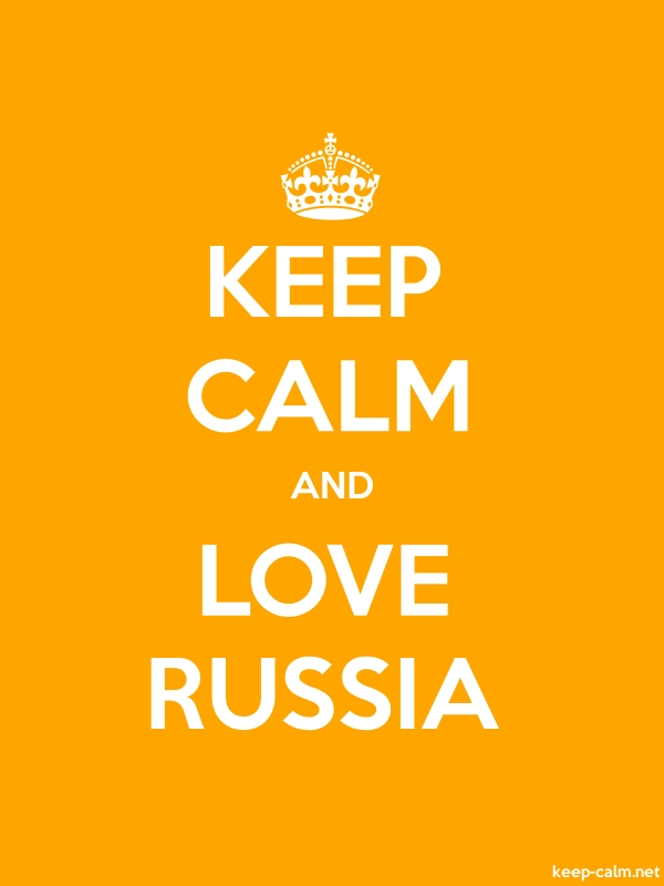 KEEP CALM AND LOVE RUSSIA - white/orange - Default (600x800)