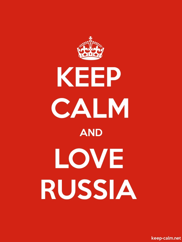 KEEP CALM AND LOVE RUSSIA - white/red - Default (600x800)