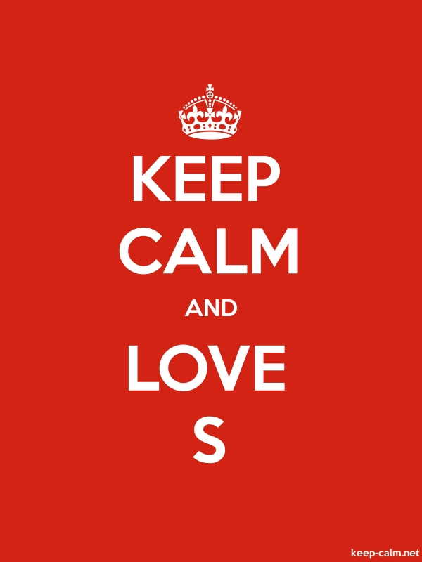 KEEP CALM AND LOVE S - white/red - Default (600x800)