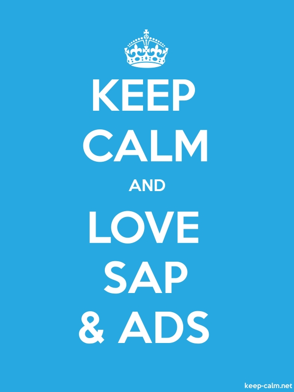 KEEP CALM AND LOVE SAP & ADS - white/blue - Default (600x800)