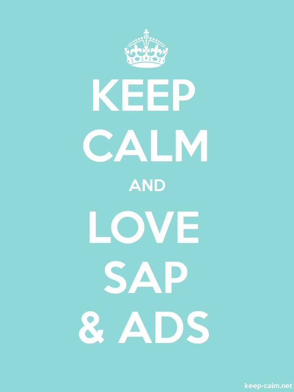 KEEP CALM AND LOVE SAP & ADS - white/lightblue - Default (600x800)
