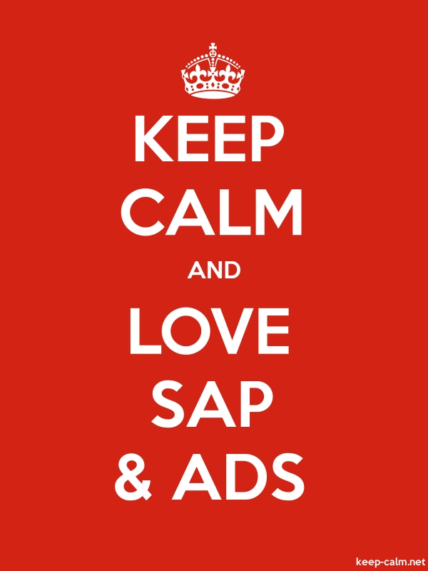 KEEP CALM AND LOVE SAP & ADS - white/red - Default (600x800)