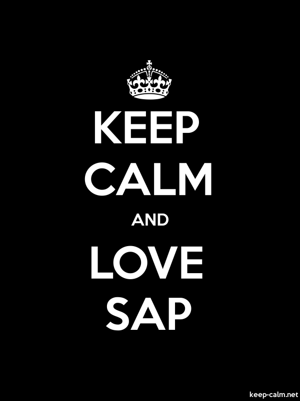 KEEP CALM AND LOVE SAP - white/black - Default (600x800)