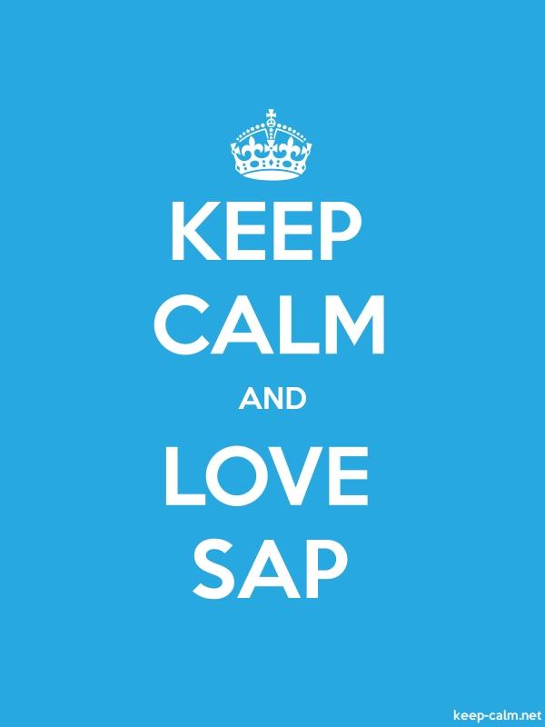 KEEP CALM AND LOVE SAP - white/blue - Default (600x800)