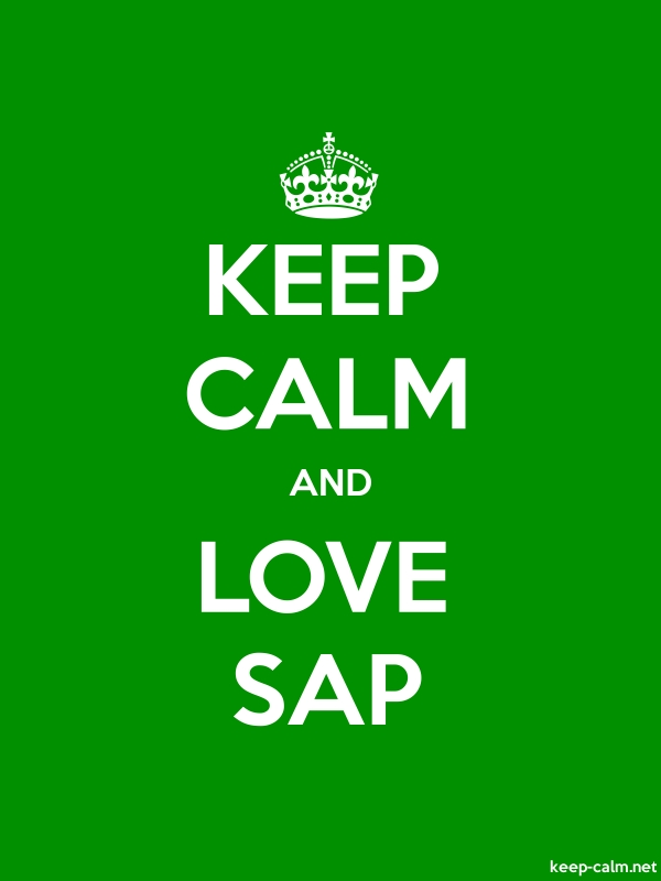 KEEP CALM AND LOVE SAP - white/green - Default (600x800)