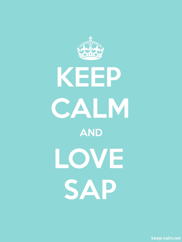 KEEP CALM AND LOVE SAP - white/lightblue - Default (600x800)