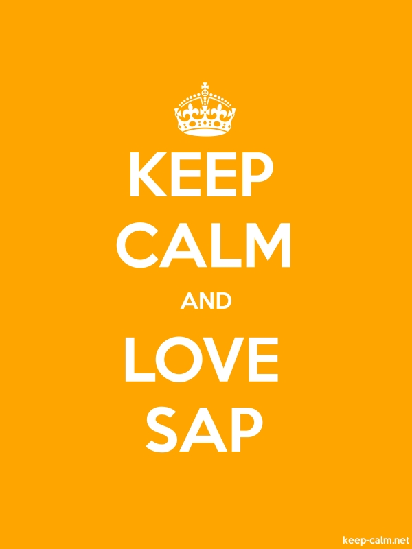 KEEP CALM AND LOVE SAP - white/orange - Default (600x800)