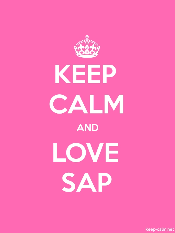KEEP CALM AND LOVE SAP - white/pink - Default (600x800)
