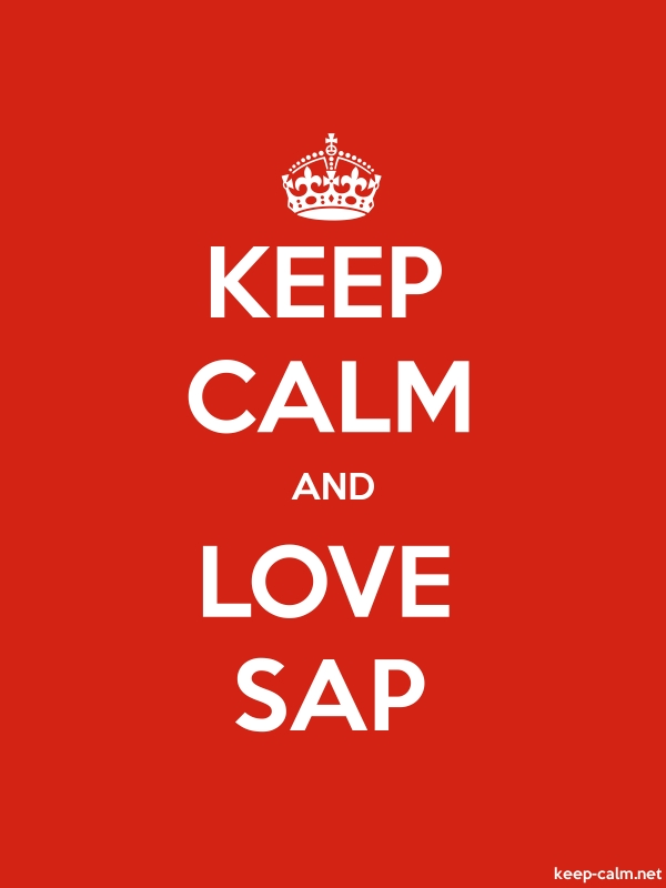 KEEP CALM AND LOVE SAP - white/red - Default (600x800)
