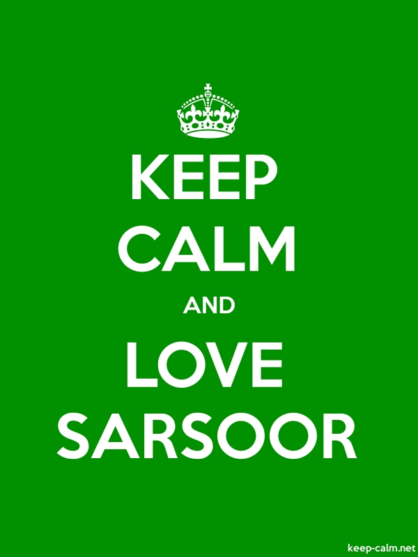 KEEP CALM AND LOVE SARSOOR - white/green - Default (600x800)