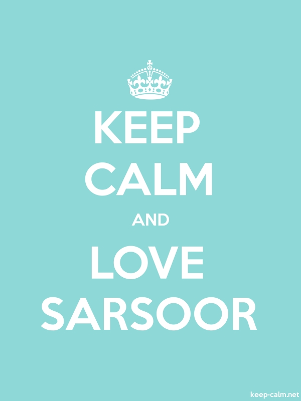 KEEP CALM AND LOVE SARSOOR - white/lightblue - Default (600x800)