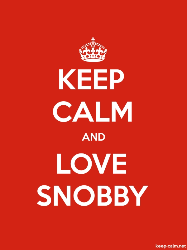 KEEP CALM AND LOVE SNOBBY - white/red - Default (600x800)