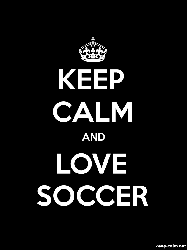 KEEP CALM AND LOVE SOCCER - white/black - Default (600x800)