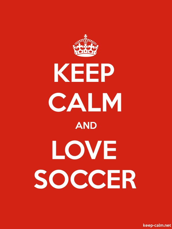 KEEP CALM AND LOVE SOCCER - white/red - Default (600x800)