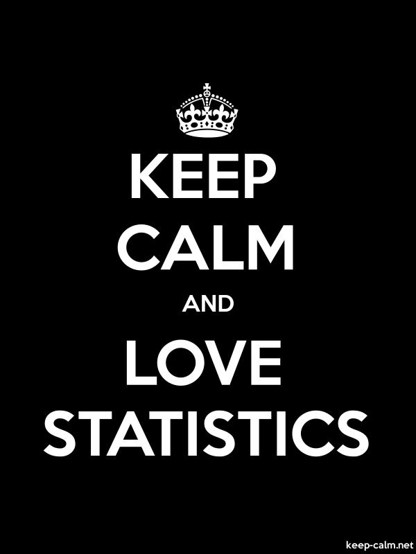 KEEP CALM AND LOVE STATISTICS - white/black - Default (600x800)