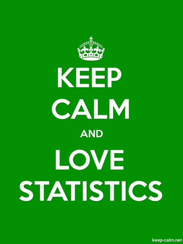KEEP CALM AND LOVE STATISTICS - white/green - Default (600x800)