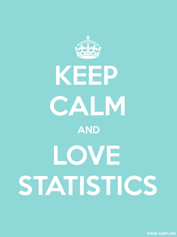 KEEP CALM AND LOVE STATISTICS - white/lightblue - Default (600x800)