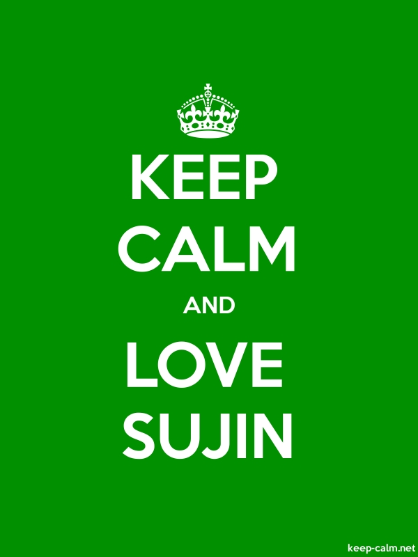 KEEP CALM AND LOVE SUJIN - white/green - Default (600x800)