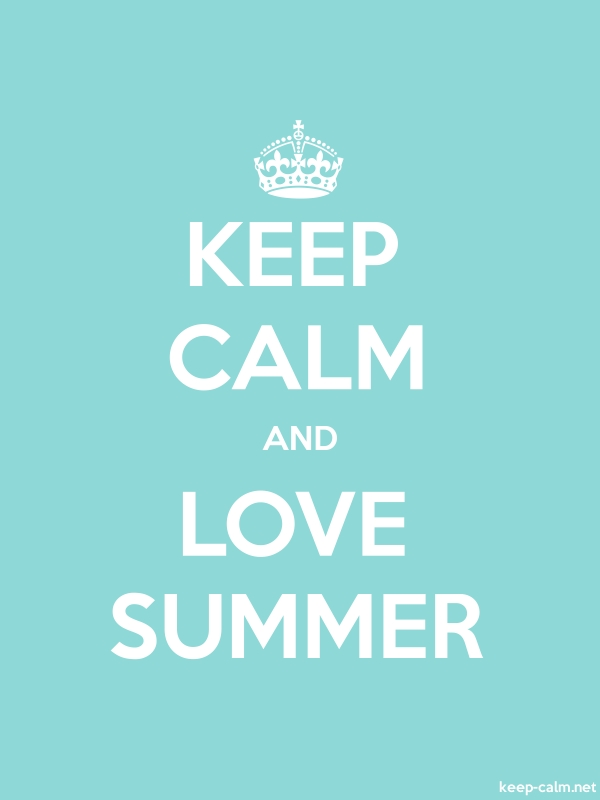KEEP CALM AND LOVE SUMMER - white/lightblue - Default (600x800)