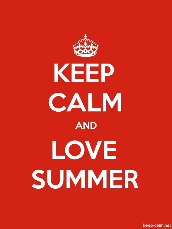 KEEP CALM AND LOVE SUMMER - white/red - Default (600x800)