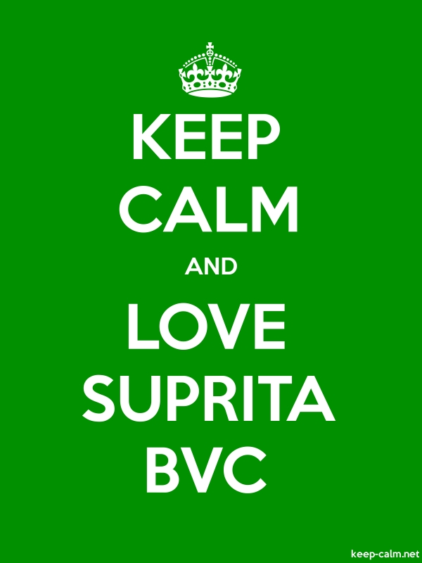KEEP CALM AND LOVE SUPRITA BVC - white/green - Default (600x800)