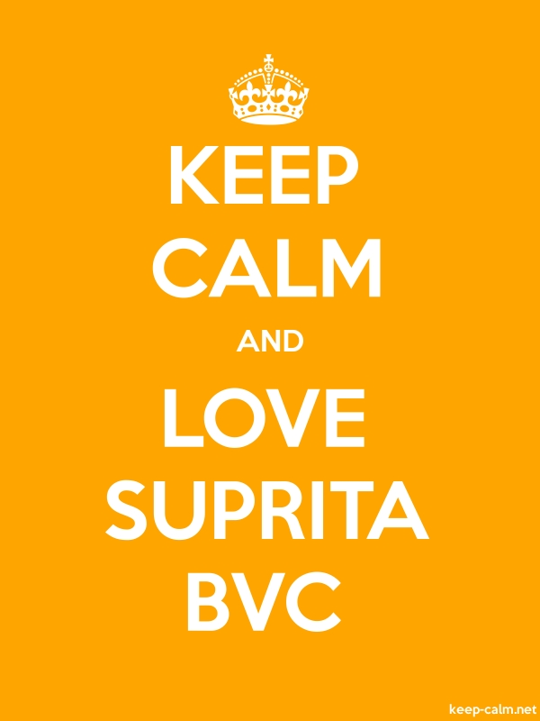 KEEP CALM AND LOVE SUPRITA BVC - white/orange - Default (600x800)