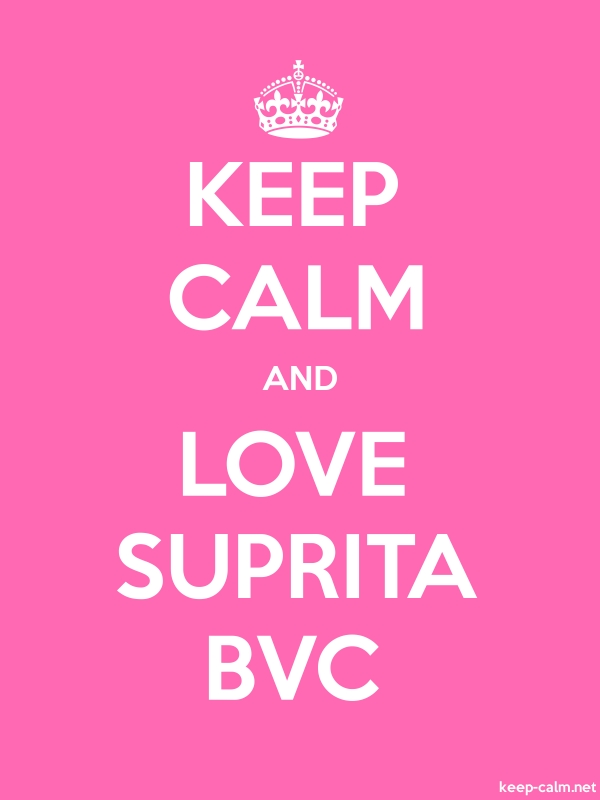 KEEP CALM AND LOVE SUPRITA BVC - white/pink - Default (600x800)