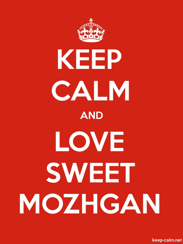 KEEP CALM AND LOVE SWEET MOZHGAN - white/red - Default (600x800)