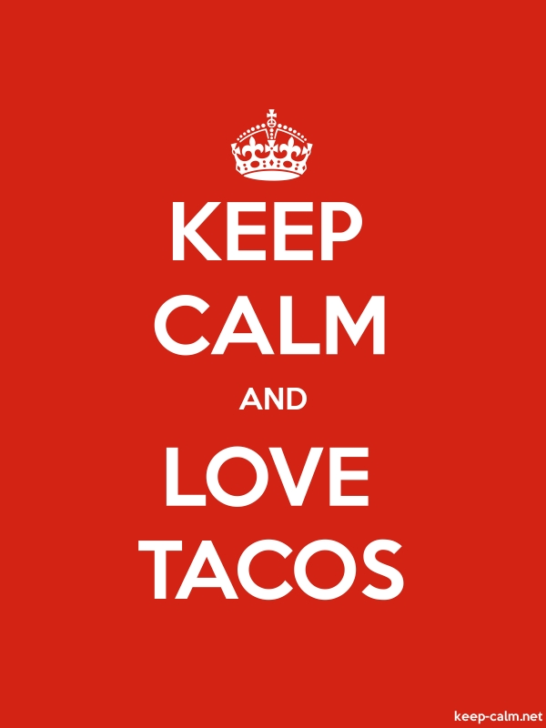 KEEP CALM AND LOVE TACOS - white/red - Default (600x800)