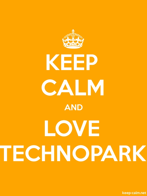 KEEP CALM AND LOVE TECHNOPARK - white/orange - Default (600x800)
