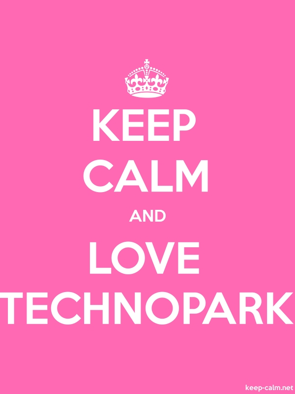 KEEP CALM AND LOVE TECHNOPARK - white/pink - Default (600x800)