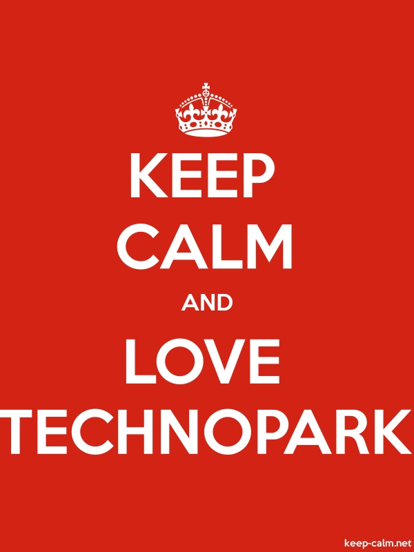KEEP CALM AND LOVE TECHNOPARK - white/red - Default (600x800)