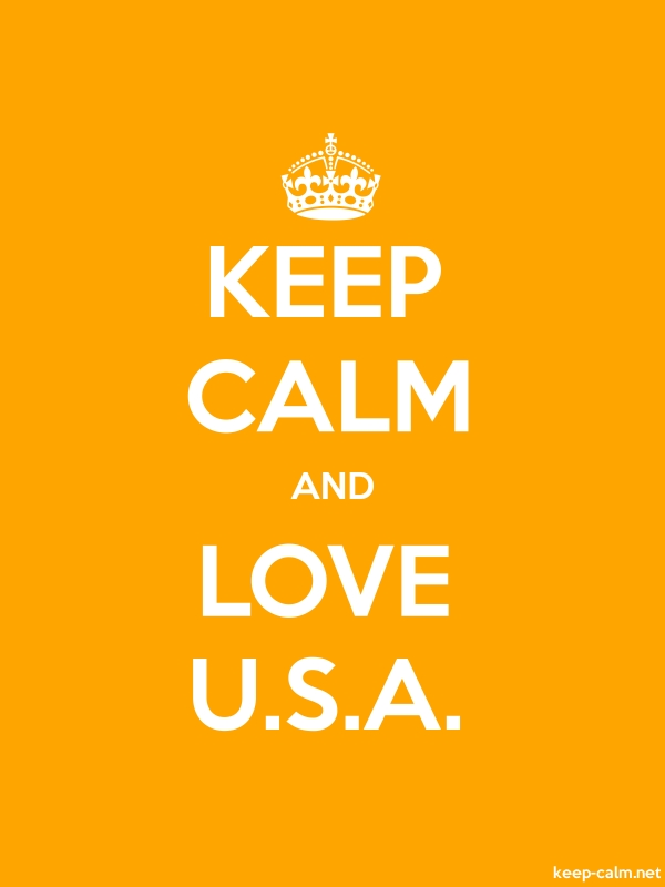 KEEP CALM AND LOVE U.S.A. - white/orange - Default (600x800)