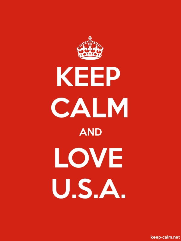 KEEP CALM AND LOVE U.S.A. - white/red - Default (600x800)