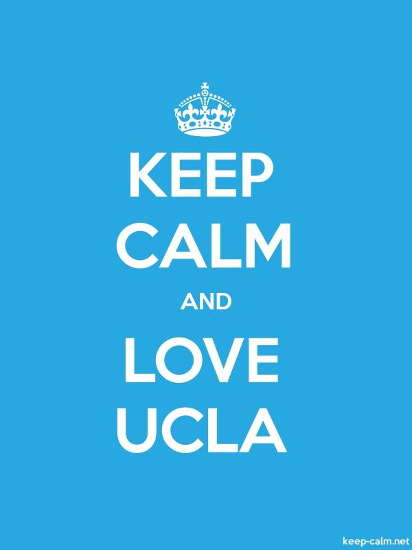 KEEP CALM AND LOVE UCLA - white/blue - Default (600x800)