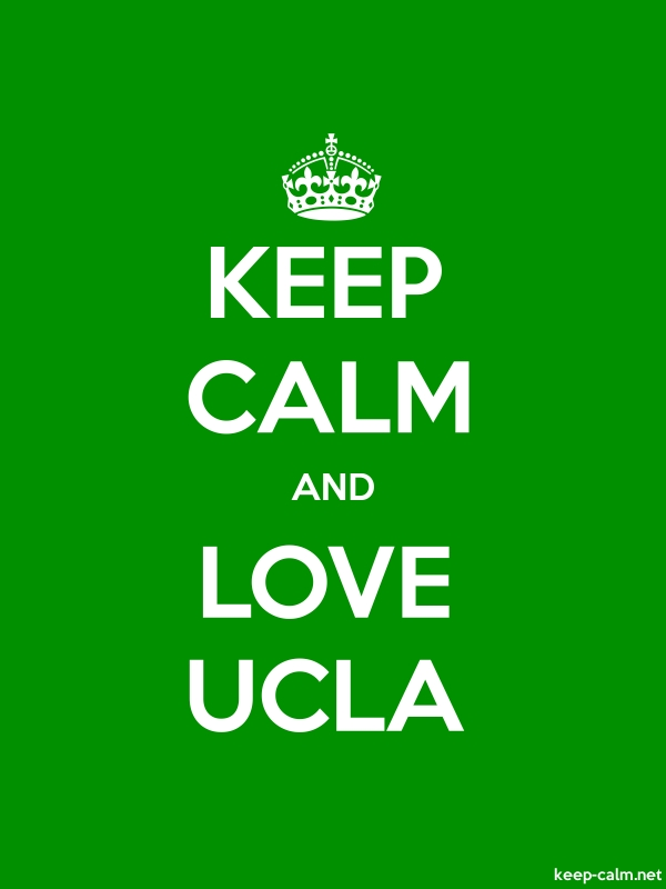 KEEP CALM AND LOVE UCLA - white/green - Default (600x800)
