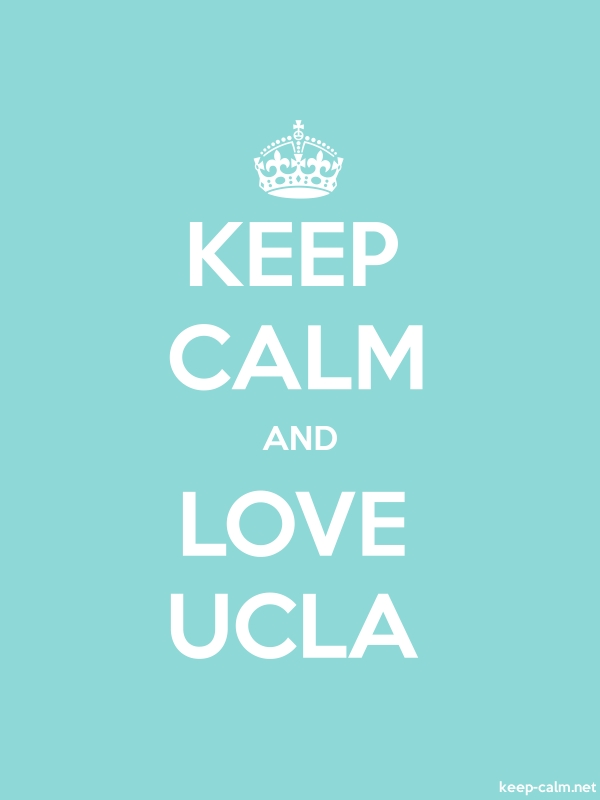 KEEP CALM AND LOVE UCLA - white/lightblue - Default (600x800)