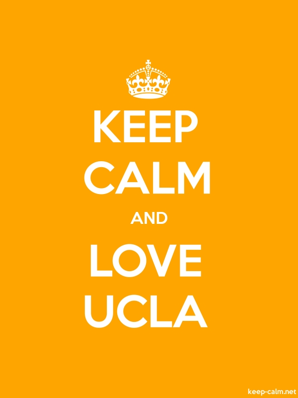 KEEP CALM AND LOVE UCLA - white/orange - Default (600x800)