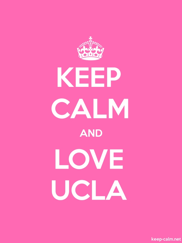 KEEP CALM AND LOVE UCLA - white/pink - Default (600x800)