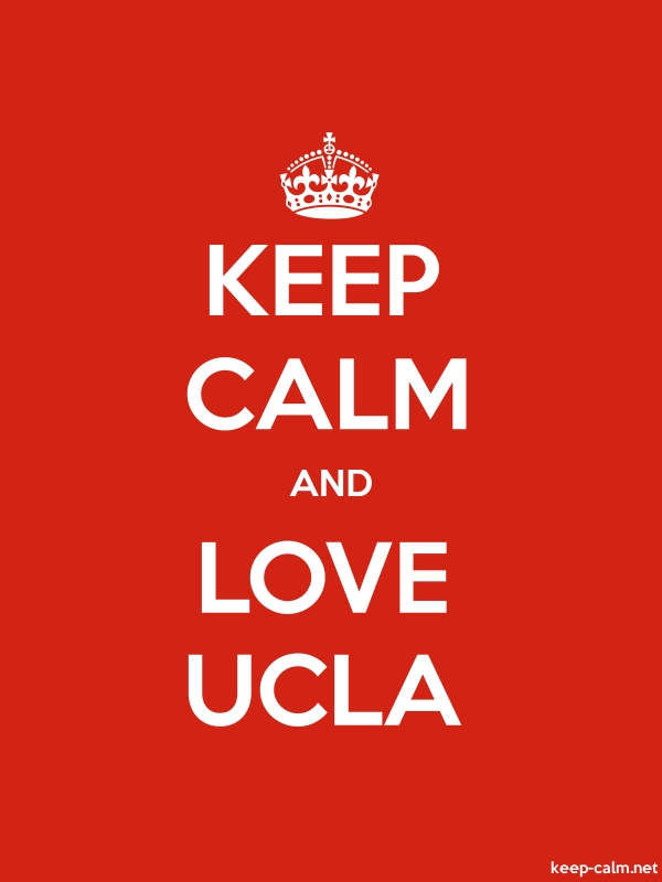 KEEP CALM AND LOVE UCLA - white/red - Default (600x800)