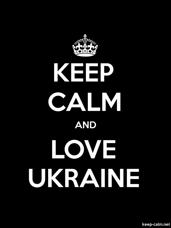 KEEP CALM AND LOVE UKRAINE - white/black - Default (600x800)