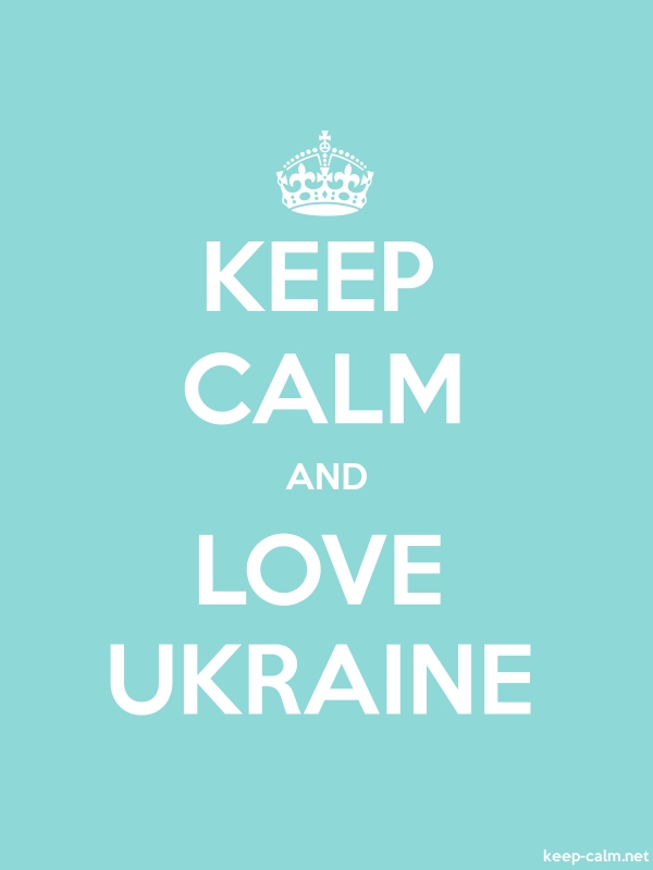 KEEP CALM AND LOVE UKRAINE - white/lightblue - Default (600x800)