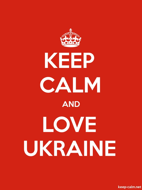 KEEP CALM AND LOVE UKRAINE - white/red - Default (600x800)