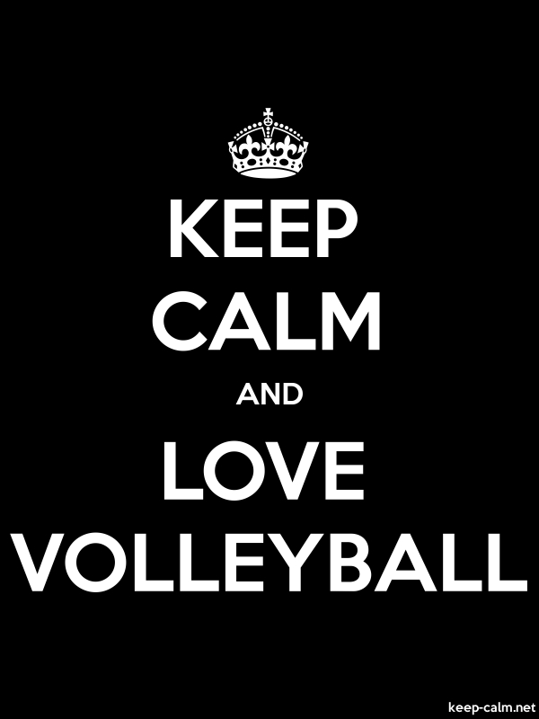 KEEP CALM AND LOVE VOLLEYBALL - white/black - Default (600x800)