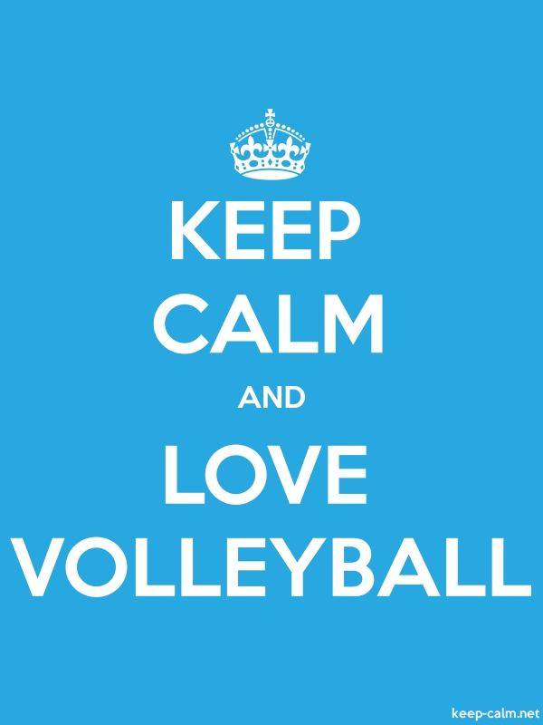 KEEP CALM AND LOVE VOLLEYBALL - white/blue - Default (600x800)
