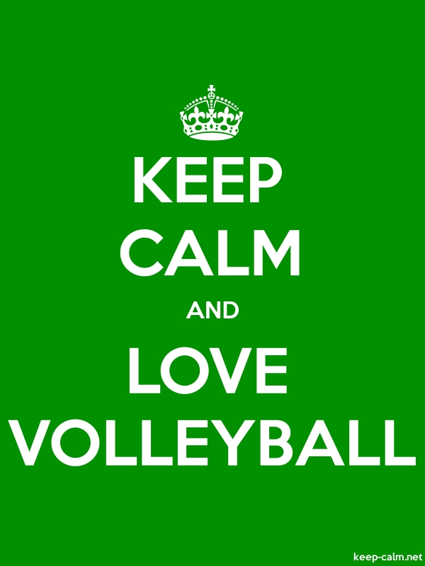 KEEP CALM AND LOVE VOLLEYBALL - white/green - Default (600x800)