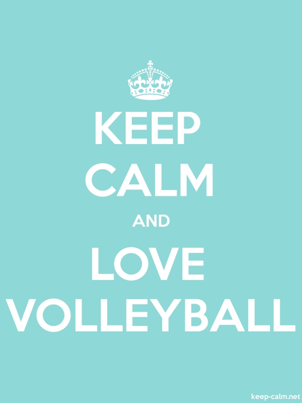 KEEP CALM AND LOVE VOLLEYBALL - white/lightblue - Default (600x800)